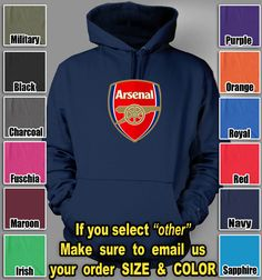Arsenal Football Club Hoodie UEFA English Premier soccer club hooded sweatshirt $37.85 @TeesRus http://#bonanza