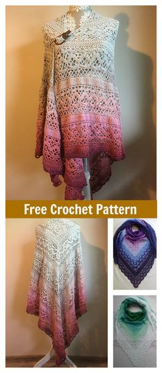 Klaziena Shawl Free Crochet Pattern #freecrochetpatterns #shawl