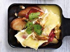 Das Rezept für Raclette-Pfännchen Schwarzwälder Schinken mit Birne und weitere kostenlose Rezepte auf LECKER.de