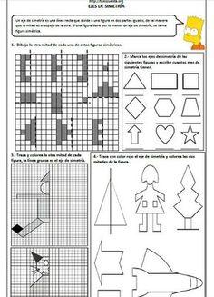 Ejercicios de ejes de simetría – Primaria - http://materialeducativo.org/ejercicios-de-ejes-de-simetria-primaria/