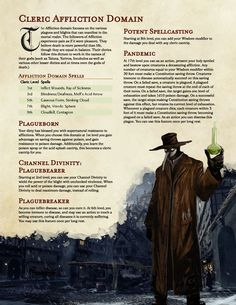 [OC] Revision to my Affliction Cleric domain Dungeons And Dragons Races, Dungeons And Dragons Classes, Dnd Dragons, Dungeons And Dragons Characters, Dungeons And Dragons Homebrew, Dnd Characters, Dragon Rpg, Dragon Games, Dnd Cleric