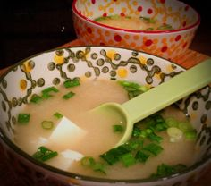 Miso Soup, Bewitching Kitchen (dashi, white miso, tofu, green onions)