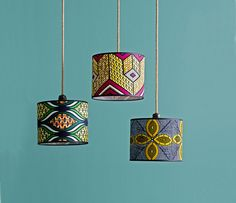 Go bold with African wax / Ankara fabric lampshades