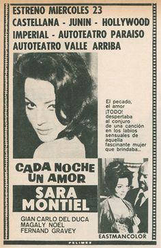 """""""Cada noche un amor"""" era una de las películas taquilleras que en los 60 seducía a los caraqueños"""