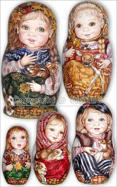 My friend from Russia got us matryoshkas like these for our wedding.  They had our faces painted on them and we were dressed in various outfits.  Awesome!