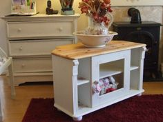 A Superb Shabby Chic Solid Pine Corner TV Unit-Stand-Cabinet with decoupage!!! | eBay
