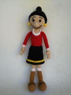 olivia (popeye) amigurumi lana crochet
