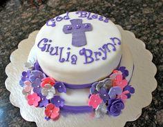baby girl christening cake