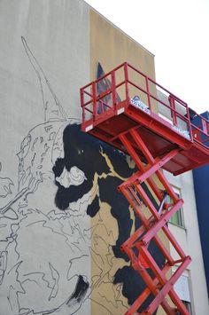 Street Art, Arte Urbana, Graffiti, O Bairro i o Mundo, Quinta do Mocho, Sacavém, Loures, Projeto Matilha.