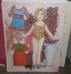 Mary Lou Paper Doll Set by jfaypaperdolls on Etsy