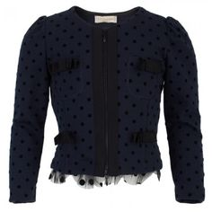 Monnalisa classic jacket Kids Outfits, Cute Outfits, Kids Fashion, Polka Dots, Tutu Dresses, My Style, Coat, Girls, Sweaters