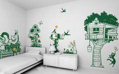 Quoi de mieux que des autocollants pour ajouter un peu de vie aux murs vides d'une chambre d'enfant ?