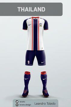 Asian Soccer Jerseys on Behance Sport Shirt Design, Sports Jersey Design, Sport T Shirt, Football Uniforms, Sports Uniforms, Football Jerseys, Soccer Poster, Jersey Outfit, Soccer Kits