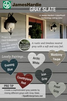 James Har Gray Slate Siding Color Inspiration Graphic Farmhouse Exterior Colors Paint For