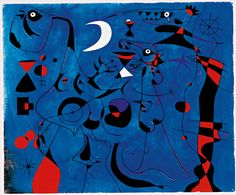 ART - mateogonz:   Miró, Joan. Figure at Night Guided by...