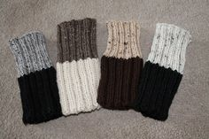 Hand Knit Boot Cuffs Two in One Boot Cuffs by 3GCraftsandCreations