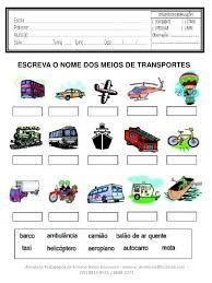 Resultado de imagem para meios de transporte