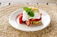Paleo Strawberry Shortcake & Lime Coconut Cream ~ http://cookeatpaleo.com
