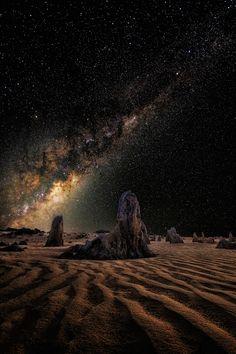 Milky Way On Mars, Pinnacles Western Australia | By Scott McCook