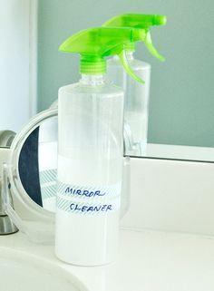 No Streaks Here! DIY 1-Swipe Mirror Cleaner