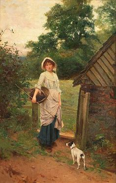 Carlton Alfred Smith - Blackberry picking 1904
