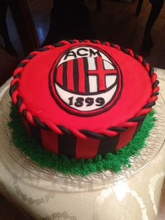 AC Milan cake for my brother's birthday