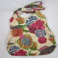 HANDMADE IN INDIA New Sling Hobo Shoulder Bag Lovely Prints UNIQUE - NEW - $21.50