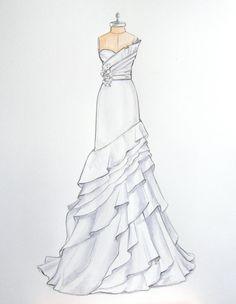 Las 647 Mejores Imágenes De Bocetos Vestidos Bocetos