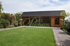Luxe veranda met verschuifbare glazen wanden!