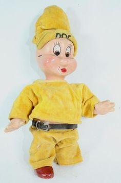 1930's Disney Knickerbocker Toy Co. Composition Doll Snow White Dwarfs Doc