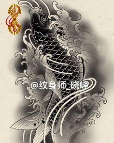 Japanese Tattoo Art, Japanese Sleeve Tattoos, Full Sleeve Tattoos, Carp Tattoo, Koi Fish Tattoo, Tattoo Ink, Mini Tattoos, Tattoos For Guys, Dragon Tattoo Arm