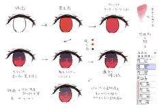 SAIで簡単にかける赤い目