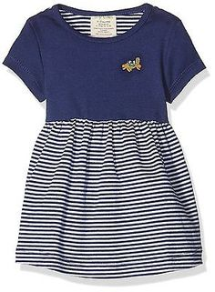 12 - 18 Months, Navy Blue & White, Green Nippers GN052 Baby Girl's Dress NEW
