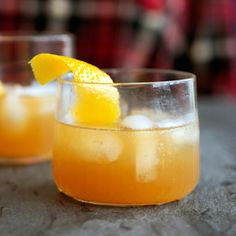The Flannel: Cognac and apple cider are shaken into this ice-cold—yet warming—cocktail. With allspice dram and orange juice for good measure, The Flannel is the perfect name for this comforting fall cocktail. Brandy Cocktails, Cider Cocktails, Fall Cocktails, Fall Drinks, Cocktail Drinks, Cocktail Recipes, Wine Recipes, Alcoholic Drinks, Cooking Recipes