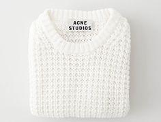 white acne sweater