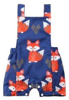 Little Fox Baby Overall Shorts