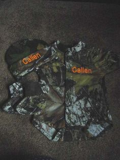 Personalized Realtree Camo Camouflage 3pc Baby Infant Newborn Set Boy or Girl | eBay