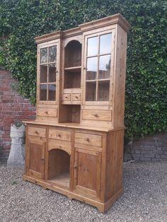 Stunning Glazed Top Farmhouse Kitchen Reclaimed Pine Dresser