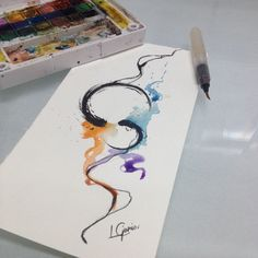 Sei lá • eh oq eh hahaha #abstrato     #temgenteqvaiolhareacharumdragao #watercolor #aquarela #tattoo #tatuagem #lcjunior