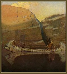 """Autumn. """"Waiting"""" - Scribner's Magazine, 1909 by N.C. Wyeth by Plum leaves, via Flickr"""