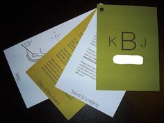 Invitations that include details about your wedding