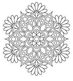 Easy Flower Mandala Coloring Pages. 30 Easy Flower Mandala Coloring Pages. Coloring Books Printable Mandalas Coloring Pages for Mandalas Painting, Mandalas Drawing, Mandala Coloring Pages, Coloring Book Pages, Dot Painting, Printable Coloring Pages, Coloring Sheets, Zentangles, Flower Coloring Pages