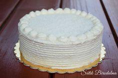 A krém receptjét köszönöm Nassoldának!:) Hozzávalók (22 cm): Piskóta : 5 tojás 5 ek cukor 5 ek liszt 6 g sütőpor Krém: ... Easy Cake Decorating, Cakes And More, Vanilla Cake, Food And Drink, Cukor, Sweets, Candy, Baking, Recipes