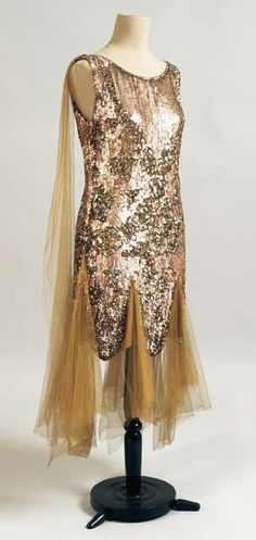 Evening dress, french. Ca 1925