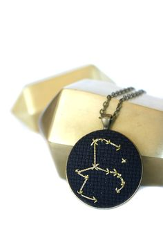 Golden Aquarius Zodiac Constellation Necklace | Zelma Rose