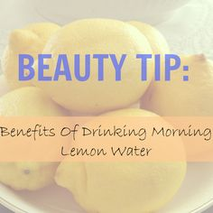 Weight lost, balances pH, anti-aging, clears acne, flush toxins from your body, diuretic (gets rid of the bloat), freshens bad breath, reduces stress, and boosts your immune system! Squeeze 1/2 lemon into 8 - 12oz of warm water. If you are concerned with the acidity of the lemon on your teeth, try drinking it from a straw.