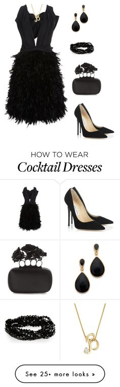 """""""Untitled #163"""" by bellssbn on Polyvore featuring Marchesa, Alexander McQueen, Bloomingdale's, Jimmy Choo and Kenneth Jay Lane"""