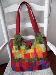 Etsy patchwork handbag...for ideas: