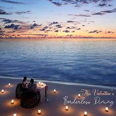Celebrate Valentine's with a special menu. Romantic Beach Dinner sets for an exquisite dining experience under the moon and starry Maldivian sky amidst a stunning tropical backdrop. Beach Dinner, Under The Moon, Romantic Beach, Dinner Sets, Maldives, Backdrops, Valentino, Menu, Tropical