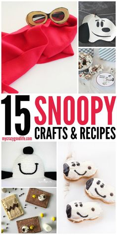 These fun and easy Snoopy crafts (and recipes) are perfect for little hands! Crafts for even the adult/child in us. A long time favorite for us all Snoopy. Peanuts Christmas, Charlie Brown Christmas, Charlie Brown And Snoopy, Peanuts Halloween, Grinch Christmas, Christmas Carol, Christmas Ideas, Christmas Crafts, Camp Snoopy